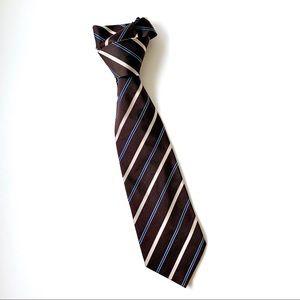 Diagonal Striped Brown Vintage Tie